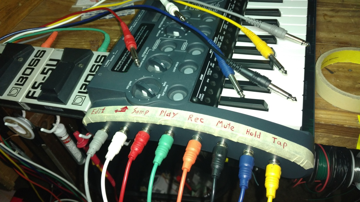 Installing 8 Jack Remote Footswitch Patch Bay On Korg Microsampler Keyboard Sustain Pedal Wiring Diagram Works Of The Patrick Richardson